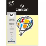 Papel Colorido Canson A4 120g/m² 15 Folhas Amarelo Claro