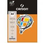 Papel Colorido Canson A4 120g/m² 15 Folhas Laranja