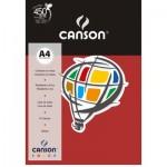 Papel Colorido Canson A4 120g/m² 15 Folhas Vermelho Escuro