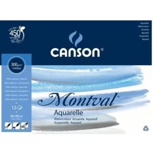 Papel Para Aquarela Canson Montval A3 300g 12 folhas