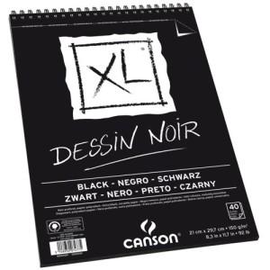 bloco papel negro XL A4