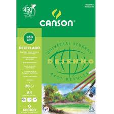 Bloco de Papel Canson A4 Reciclado